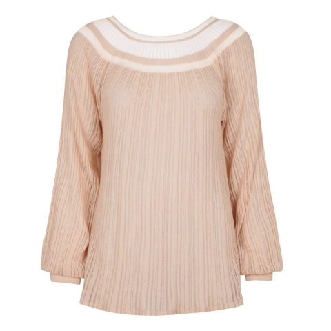 STRIPE SWEATER – NUDE