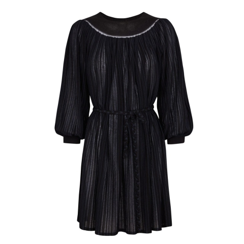 STRIPE DRESS – BLACK