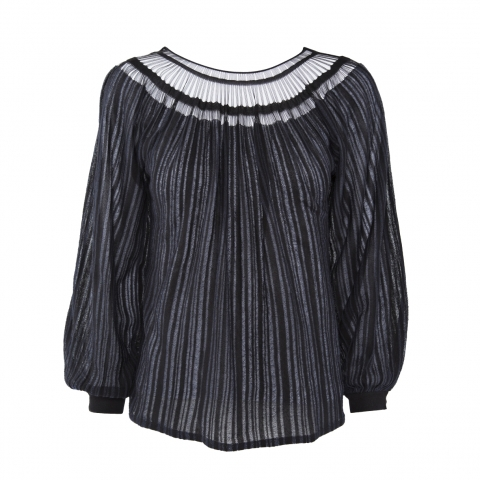 STRIPE SWEATER – BLACK