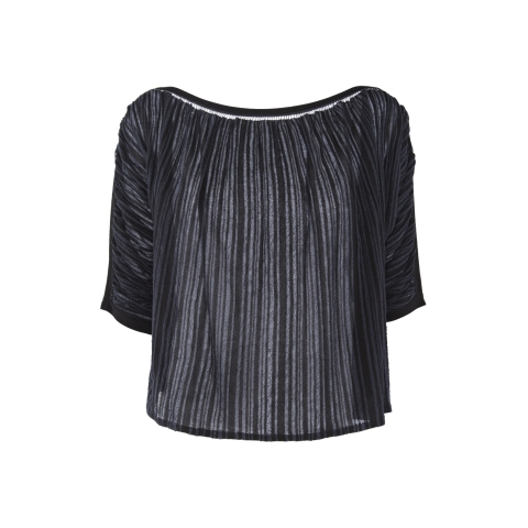 STRIPE TOP – BLACK