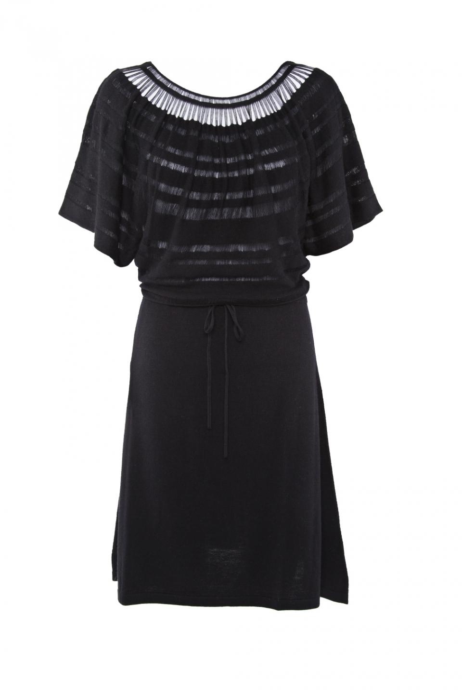 LACELINE DRESS – BLACK