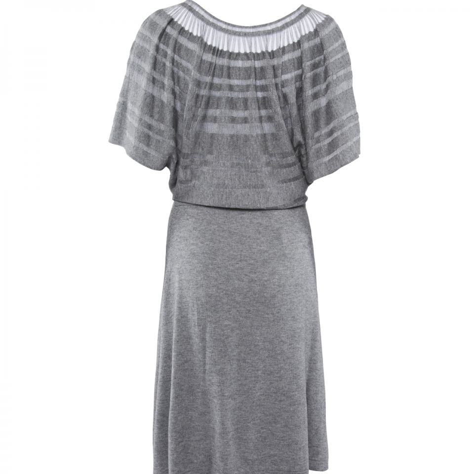 Laceline Dress grey back
