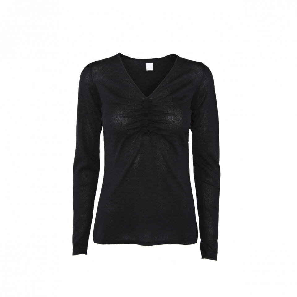 RIPPLE V*NECK – BLACK