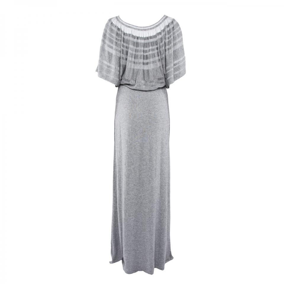Laceline Dress grey back long