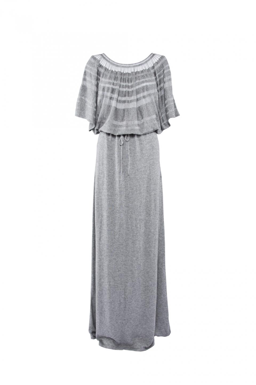 LONG LACELINE DRESS – GREY