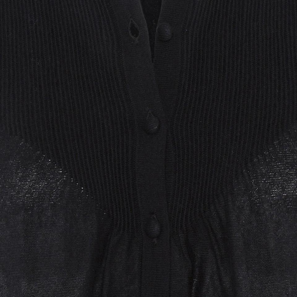 Ripple Cardigan black detail
