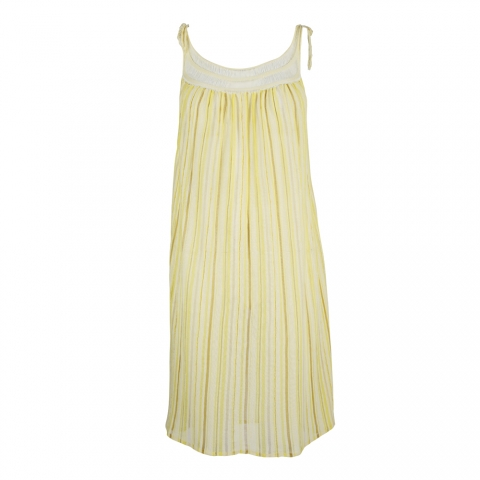 LACE STRIPE DRESS – YELLOW