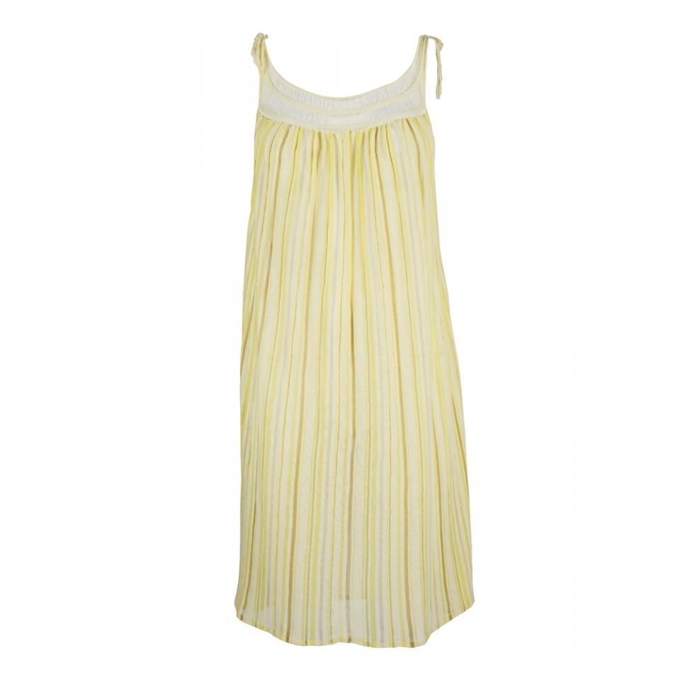 LACE STRIPE DRESS – YELLOW