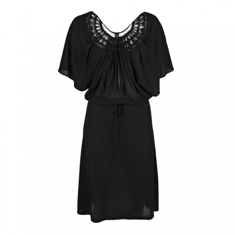 WING DRESS – BLACK