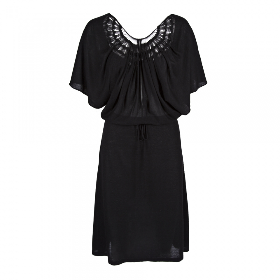 WING DRESS – BLACK