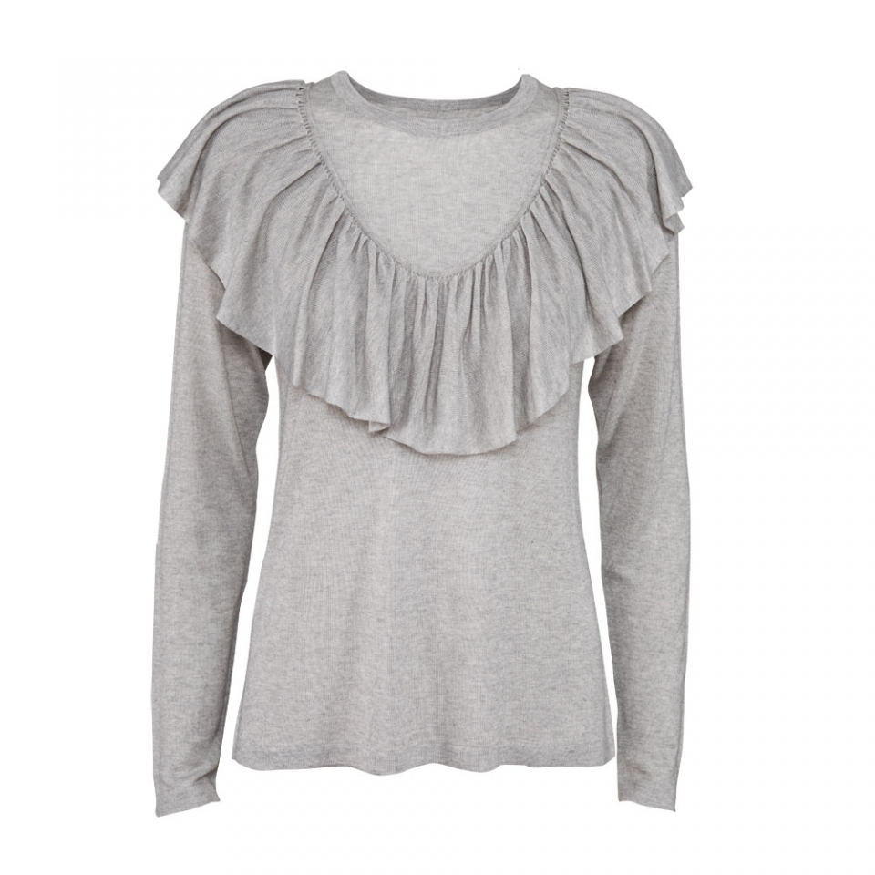 FRILL BLOUSE – SILVER