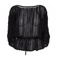 Fine Stripe Blouse black