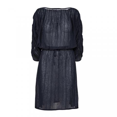 FINE STRIPE DRESS – NAVY
