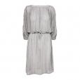 Fine Stripe Dress silver