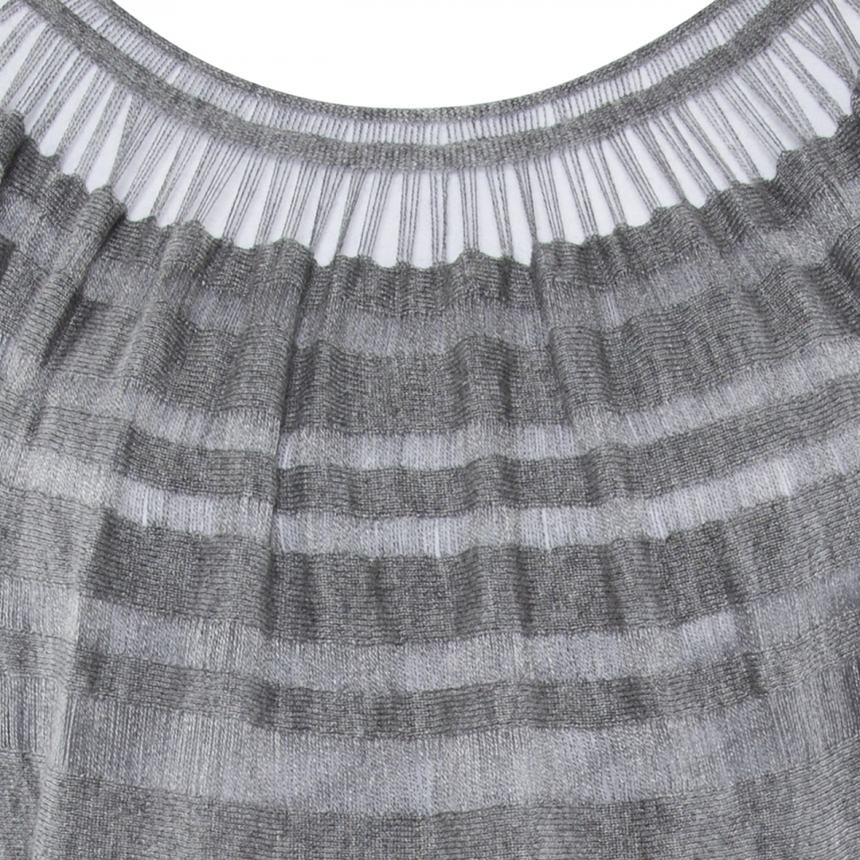 Laceline Dress grey DETAIL