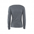 Ripple V-neck charcoal back