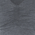 Ripple V-neck charcoal detail