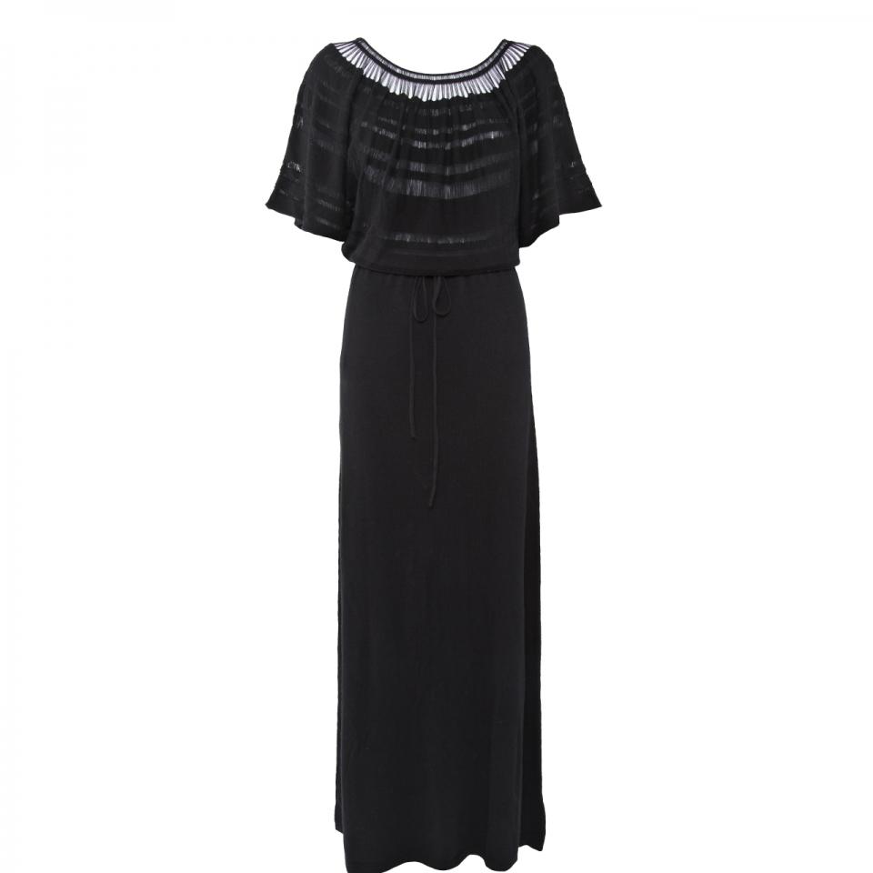 Laceline Dress black long