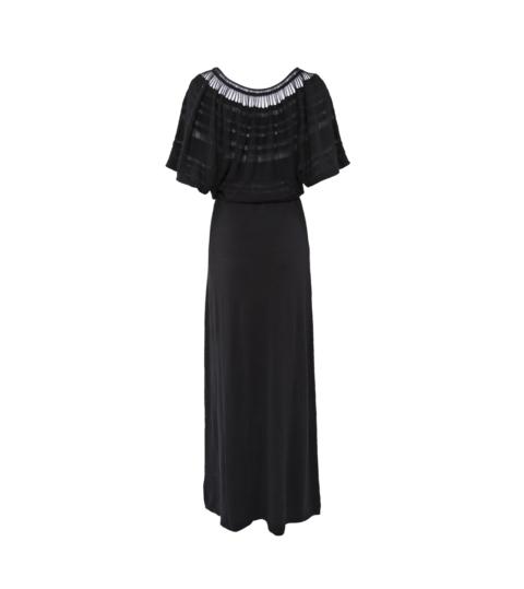 Laceline Dress black long back
