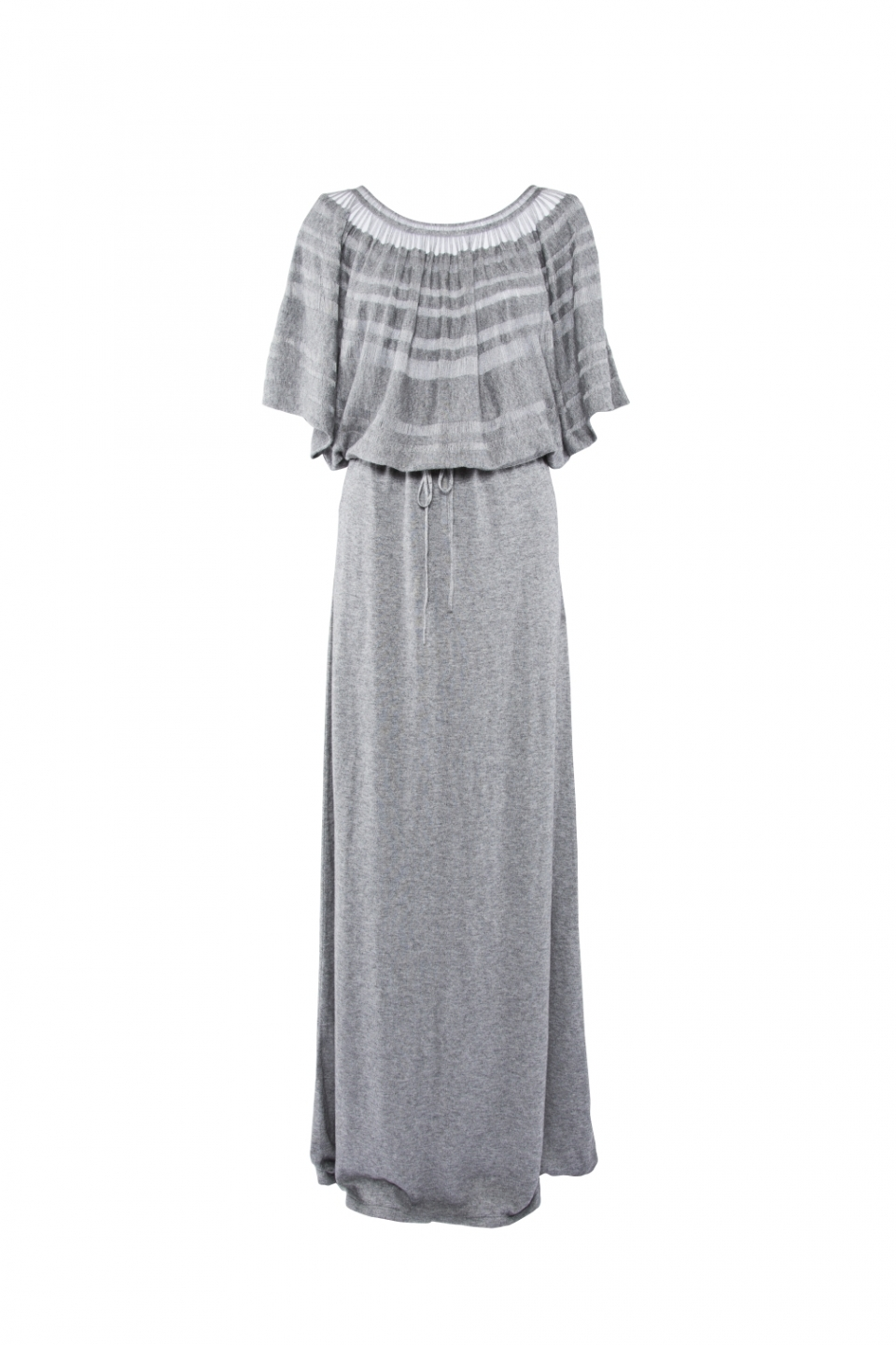 LONG LACELINE DRESS – GREY