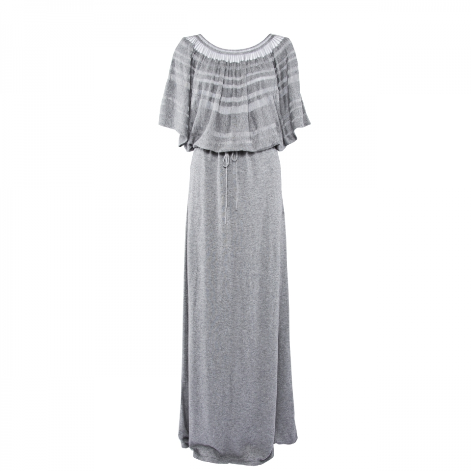 Laceline Dress grey long