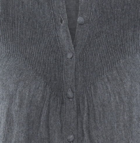 Ripple Cardigan charcoal detail