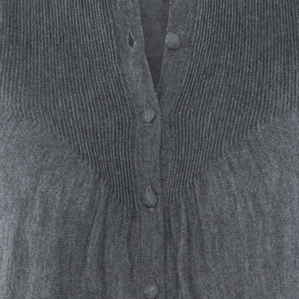 Ripple Cardigan charcoal detail
