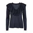 Frill Blouse navy
