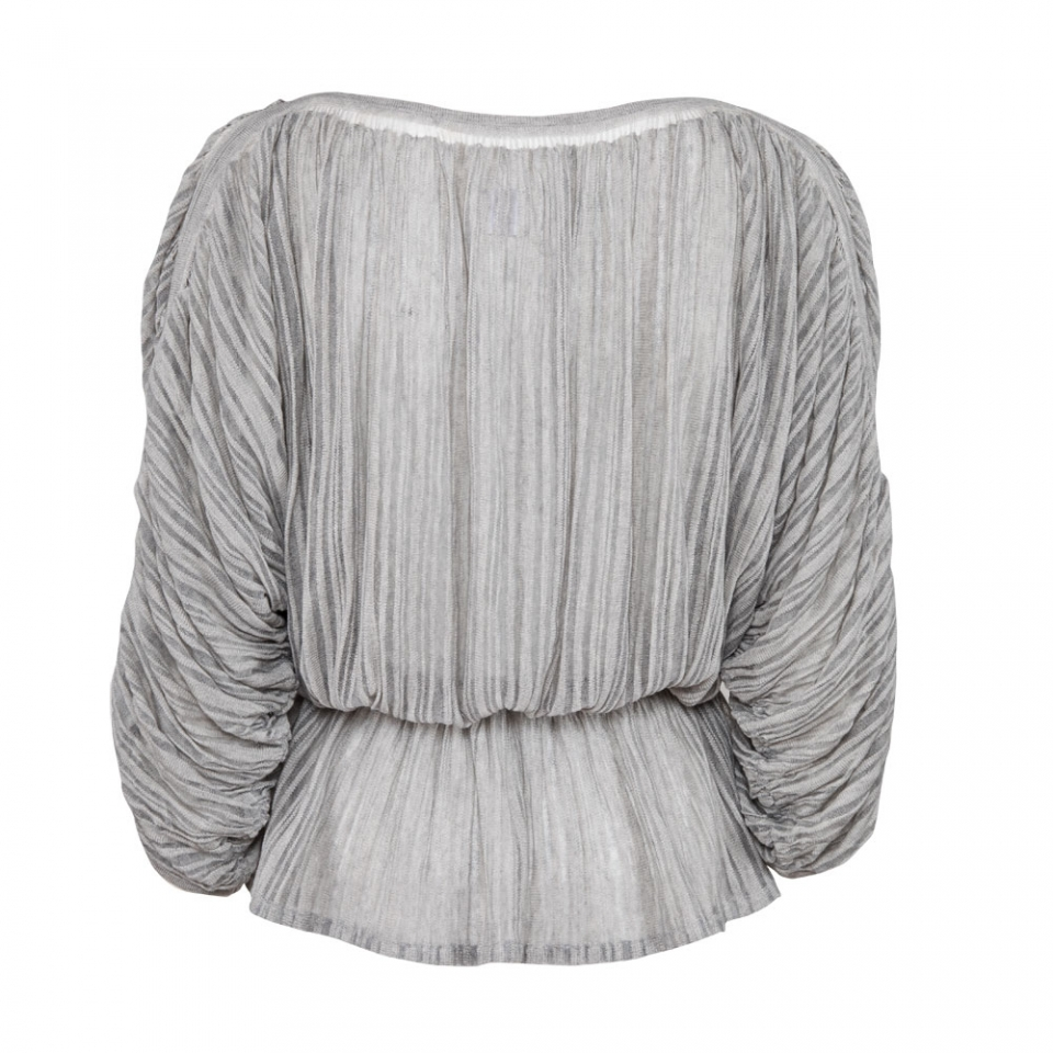 Fine Stripe Blouse back