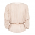 Fine Stripe Blouse nude back