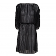 Fine Stripe Dress black
