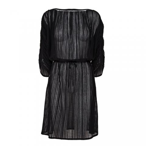 FINE STRIPE DRESS – BLACK