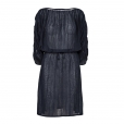 Fine Stripe Dress navy