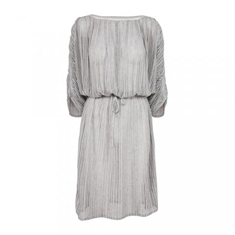 FINE STRIPE DRESS – SILVER