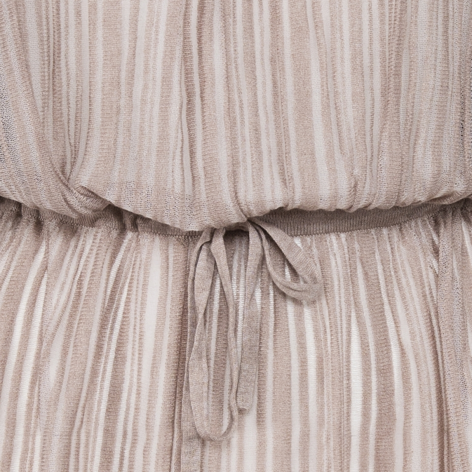 Fine Stripe Dress detail belt