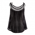 Laceneck Top black back