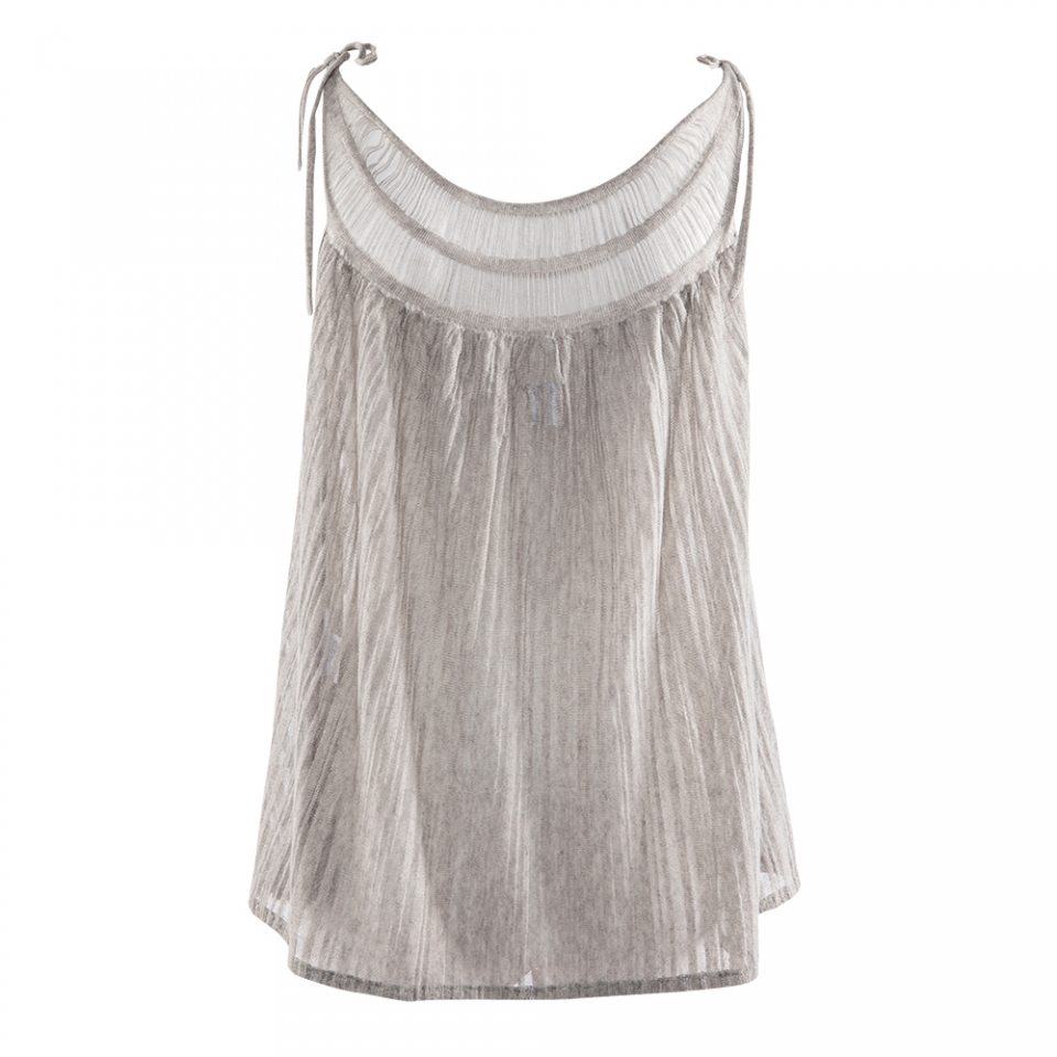 Laceneck Top silver back